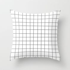 KarilShop Black and White Grid Linen Throw Pillow Case Cushion Cover Home Sofa Decorative 18 X 18 Inch. White Throw Pillows, Fluffy Pillows, Throw Cushions, Throw Pillow Cases, Couch Pillows, Designer Throw Pillows, Down Pillows, Plaid Pattern, Corporate Design