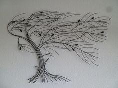 Wandobject metaal boom Viento - Muurdecoratie Bomen - WANDDECORATIE METAAL | DEKOGIFTS Art, Craft Art, Kunst