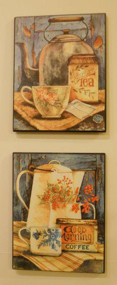 Kitchen Wall Decor Morning Coffee Afternoon Tea by LuluandGandore, $30.00