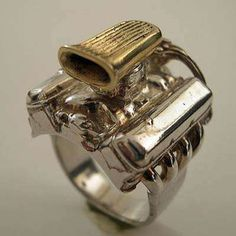 V8 Hot Rod Engine Ring