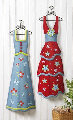 Delightful Vintage Dress Wall Decor