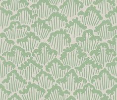 Aranami  (BP 4603) - Farrow & Ball Wallpapers - Taken from a paper cut design which Farrow and Ball have unscaled, to create this detailed flowing pattern, Aranami is inspired by raging waves. Shown here in sage green and grey. Other colourways are available. Please request a sample for a true colour match.