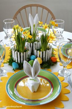 Stunning EASY Inexpensive Easter Centerpiece - Tutorial to Make the Picket Fence Container with Recycled Items - Make Something From Nothing Challenge