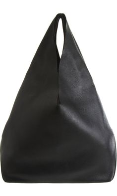 Jil Sander Market Tote from Barney's. Jil Sander, My Bags, Purses And Bags, Mode Style, Beautiful Bags, Fashion Bags, Leather Bag, Black Leather, Fashion Accessories