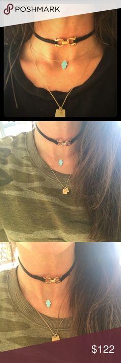 Authentic Ferragamo Choker! Photos of Ferragamo Wrap Bracelet worn as a Choker! Ferragamo Jewelry Necklaces