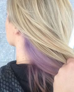 Peek-a-boo lavender color done at Aurelio Salon, perfect for a change this summer!