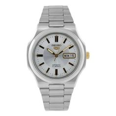 Seiko Men's SNKK43 Stainless Steel Analog with Silver Dial Watch Seiko. $69.99. Automatic Self Wind movement. Case diameter: 40 mm. Water-resistant to 99 feet (30 M). Stainless steel case. Scratch resistant hardlex