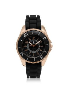 Octavia Women's OCT2063 Macha Black Silicone Watch at MYHABIT