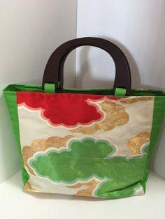 "Etsy のJapanese handmade kimono bag made by OBI(kimono's belt) ""moku moku1""(ショップ名:beautedujapon)"