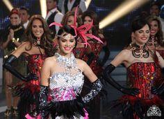 Maira Alexandra Rodriguez, 2da Finilista y Miss Earth Venezuela 2014 junto a las Chicas en el Opening de la Noche mas Linda del Año.. el Miss Venezuela 2015..