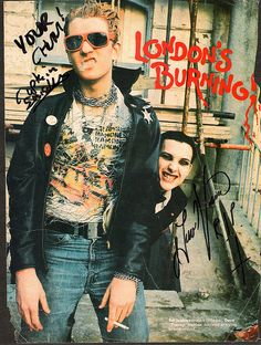"A Young Captain Sensible And Dave ""Transyl"" Vanian"