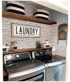Laundry Nook, Laundry Room Remodel, Small Laundry Rooms, Laundry Decor, Laundry Room Organization, Laundry Room Design, Shelving In Laundry Room, Bathroom Laundry Rooms, Ideas For Laundry Room