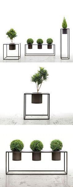 Minimalist geometric planters