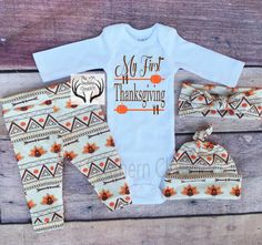 darling first Thanksgiving outfit
