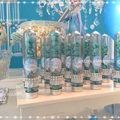 Frozen birthday party favors! See more party planning ideas at CatchMyParty.com!