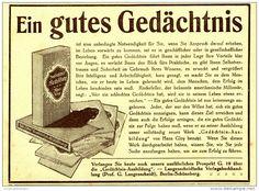 Original-Werbung/Inserat/ Anzeige 1914 - GEDÄCHTNIS-AUSBILDUNG GLOY / LANGENSCHEIDT. ca. 140 x 110 mm
