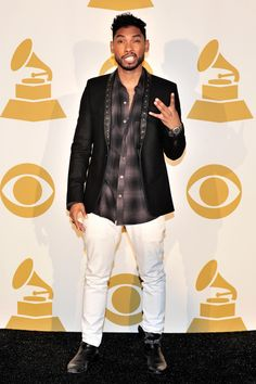 "Miguel backstage at ""The GRAMMY Nominations Concert Live!! — Countdown To Music's Biggest Night"" on Dec. 6 in Los Angeles"