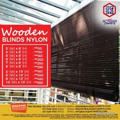 Other for sale, RM110 in Klang, Selangor, Malaysia. High quality & Fancy Wooden Blinds Supplier-Suitable for Residential & Commercial Use.     Create Y