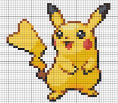 Cross stitch Kermit & Pikachu