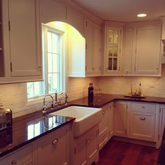 A new kitchen designed and produced by @SauerKitchens. I like this except for the sink.