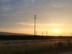 Sonnenaufgang in Münchwilen AG.
