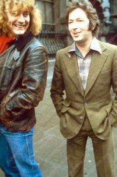 Robert Plant of Led Zeppelin with Eric Clapton EricClapton . These two definitely inspired each other Robert Plant, Rock Roll, Rock N Roll Music, Led Zeppelin, John Bonham, John Paul Jones, Music Film, Music Icon, Eric Clapton