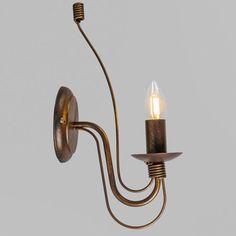 Aplique ZERO BRANCO 1 antiguo Lámpara de pared tradicional color óxido de estilo clásico.  #clasico #antiguo #decoracion