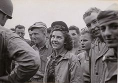 The first Navy flight nurse on Iwo Jima (6 March 1945) and later Okinawa (6 April 1945), ENS Jane Kendeigh, NC, USNR