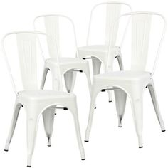 Buy Poly And Bark Trattoria Side Chair In White (Set Of 4