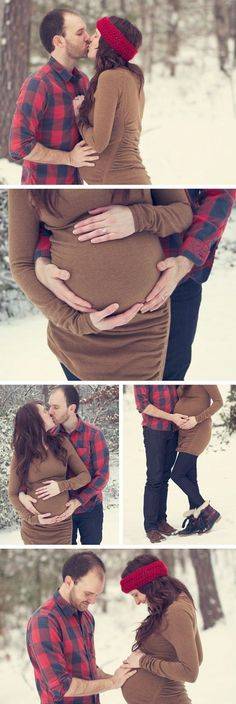 our maternity shoot in the snow via.... http://writtenonsandpaper.blogspot.com