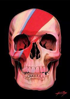Skull painting by Gerrard King