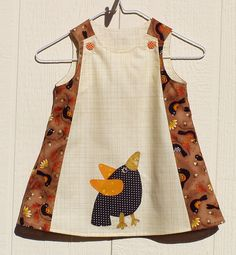 Crows of Autumn A Line Dress Size 12 months by FrogsandChicks, $28.00