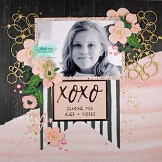 Just too Obsessed: xoxo - with Scrapmatts Love Scrapbook, Scrapbook Journal, Scrapbook Albums, Scrapbooking Layouts, Scrapbook Cards, Layout Inspiration, Craft Fairs, Scrapbooks, Cool Drawings
