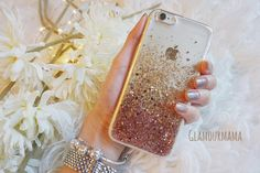 rose gold sweet heart - glitter acrylic iphone 6s case, sparkle case for iphone 6/6s  iphone 6plus/6s plus