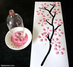 Spring art project, easy for kids and perfect for Mother's Day!