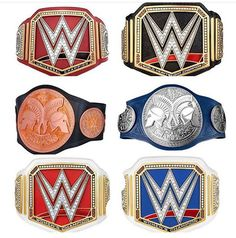WWE - Universal/World Heavyweight, Raw Tag Team/ SD LIVE: Tag Team, Raw Women's/SD LIVE: Women's