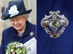 The Queen's brooches