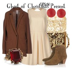 """""""Ghost of Christmas Present"""" by tallybow ❤ liked on Polyvore featuring Dolce&Gabbana, Charlotte Russe, Tara Jarmon, (+) PEOPLE, Panacea, Étoile Isabel Marant and Alexander McQueen"""