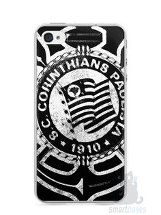 Capa Iphone 4/S Time Corinthians #3 - SmartCases - Acessórios para celulares e tablets :)