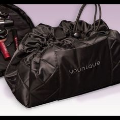 Shop Women's Younique Black size OS Cosmetic Bags & Cases at a discounted price at Poshmark. Comes in a travel bag. Makeup pictured is not included. Cinch Bag, Younique, Makeup Yourself, Cosmetic Bag, Gym Bag, Hair Beauty, Take That, Cosmetics, Womens Fashion