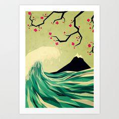 falling in love Art Print by Yetiland - $15.00