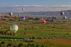 Up early to float in Cappadocia Hot Air Balloons, Turkey.