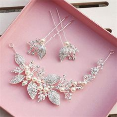 Set of 3 Red Crystal Hair Accessories Flower Comb Hair Pins Bride Head Jewelry Chinese Hairpins With Tassel For Wedding WIGO0678
