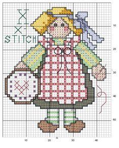 Schema punto croce Abc Girls 24