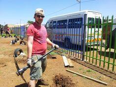 Aussenarbeiten KITA Nkululeko Südafrika Orange Farm