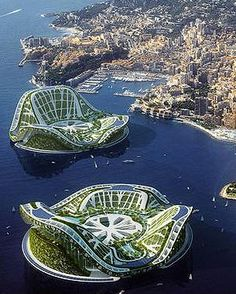 Futuristic architecture design The Floating Cities Of The Future