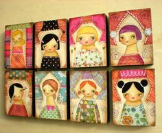 """This series of originals is called """"Little Ladies""""  http://timewithtascha.blogspot.com - great artwork!"""