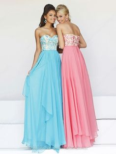 A-line Chiffon Sweetheart Embroidery Floor-length Formal Dresses-AUD$ 203.29