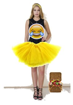 """Emoji Halloween Costume"" by avastolberg on Polyvore featuring Girl In Mind, Jennifer Behr and Bling Jewelry"