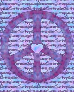 ☮ American Hippie Psychedelic Peace Sign Art ~